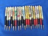 Lot of 19 Vintage Mechanical Pencils w/ Advertising – As shown