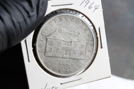 1964 Norway .900 Silver Kroner Coin