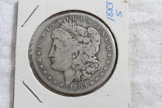 1883-S Full Liberty Morgan Silver Dollar