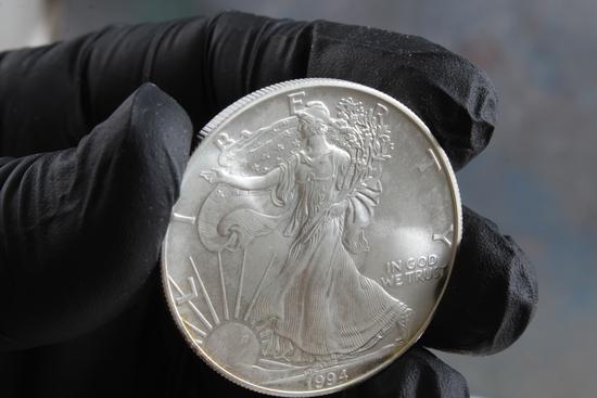 1996 One Ounce Fine Silver Eagle Dollar Coin