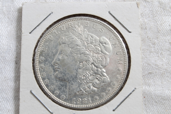 1921 Morgan Full Liberty Silver Dollar Coin