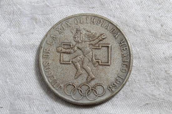 1968 Mexico Olympics Coin .720 Silver