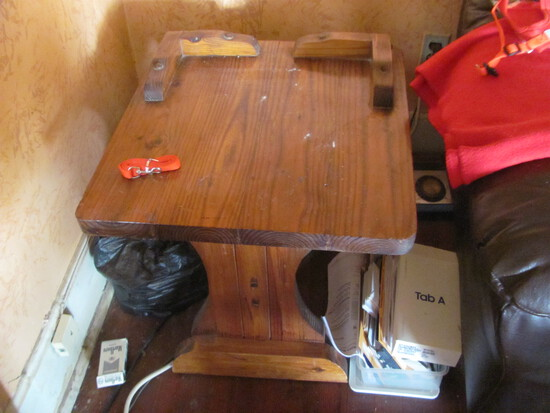"""Wood End Table 22"""" W x 24"""" D x 20"""" T"""
