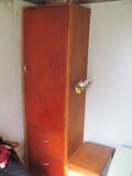 """Homemade Wood Cabinet w/2 Drawers& 3 Shelves 22"""" W x 18"""" D x 77"""" T"""