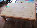 """Wood Coffee Table Recently Sanded 47 1/2"""" L x 30"""" W x 17"""" Tall"""