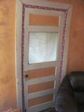 """Wood Door w/ Glass window 32"""" W – Original Hardware"""