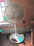 "Lasko Oscillating Fan White Plastic 3 speed 38"" T – needs cleaning"
