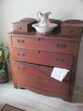 Antique Wood 4 Drawer Dresser w/Hanker chief drawers Most Original Hardware