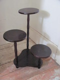 """3 Tiered Wood Plant Stand – 21 1/2"""" Tall"""
