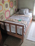 """Twin Bed w/Wood Frame 41 3/4"""" W x 28"""" T x 77"""" Long (frame dims)"""