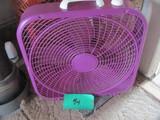 "Lasko Plastic Box Fan 20 1/2""Square – Purple! - Works"