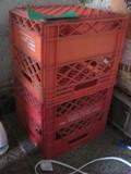 2 Marigold Foods Orange Milk Crates