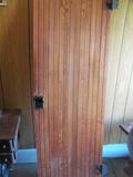 """24"""" W Bead Board Door w/Black Porcelain Door Knobs and Hinge Hardware 72"""" Tall"""