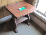 """Wood End Table 24"""" x 20"""" x 21"""" Tall"""