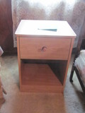 """Pair of Particle Board Single Drawer Night Stands - 24"""" T x 18"""" W x 16"""" D"""