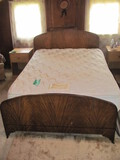 """Full/Double Bed w/Metal Frame 54"""" w x 40"""" T x 78"""" L (Frame)"""