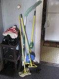 Lot of Brooms and Mop