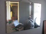 "Wall Mirror w/Beveled Edge 39 3/4"" x 30"" (hanging)"