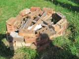 Pile of Bricks – Was put together for Fire pit – can be used for landscaping or yard art