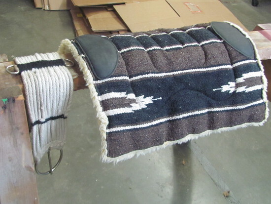 """Saddle Pad (from lots 1-12) (measures 21 1/4""""x 21""""  & 28"""" Long Western Cinch"""