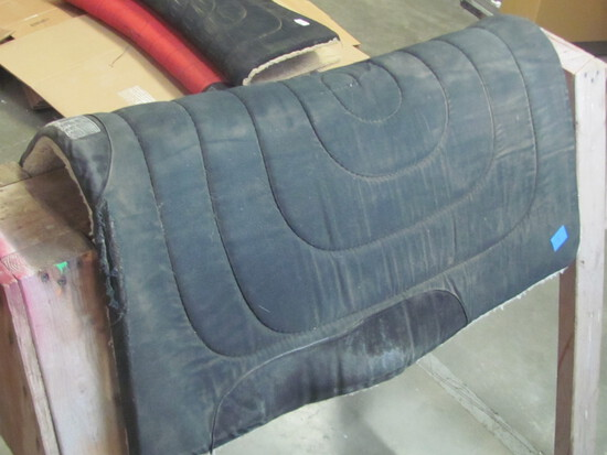 """Lot of 2 Saddle Pads Measure 31"""" x 31"""" - both Black in color"""