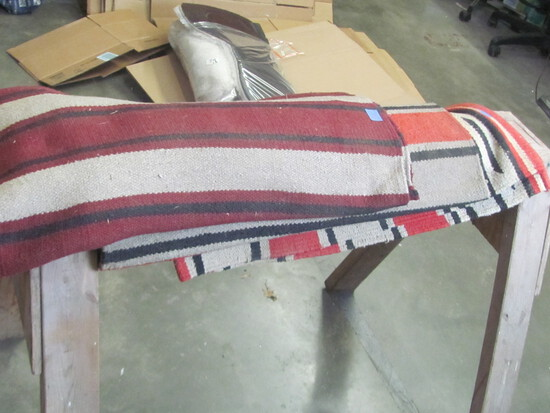 """Lot of 3 Western Saddle Pads – measures 29"""" x 58"""" approx. - Navajo designs"""