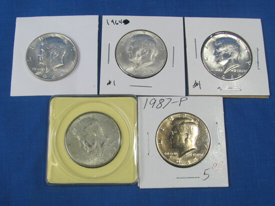 2-1964, 1966, 1967 and 1987-P Kennedy Halves