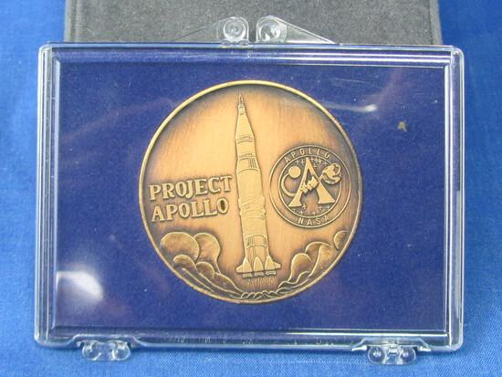 1969 NASA Project Apollo 11 Bronze Commemorative Coin Token