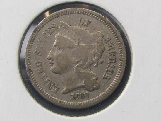 1868 3-cent nickel