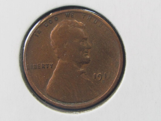 1911-S Lincoln Penny (polished)
