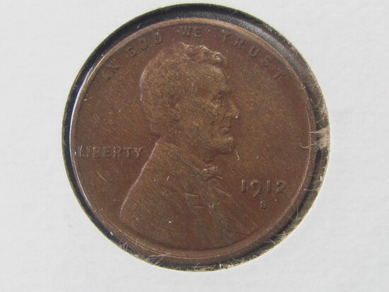 1912-S Lincoln Penny (XF)