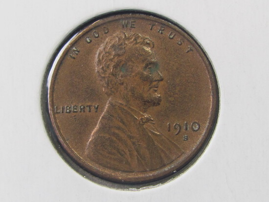 1910-S Lincoln Penny - great detail!