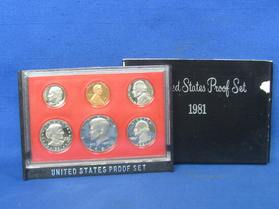 United States Proof Set – 1981 S – in Original Government Packaging