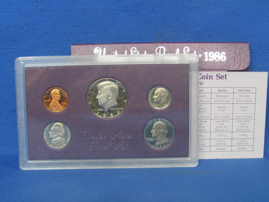 United States Proof Set – 1986 S – in Original Government Packaging
