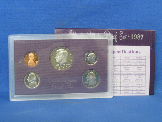 United States Proof Set – 1987 S – in Original Government Packaging