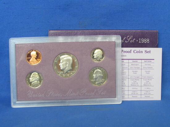 United Stated Proof Set – 1988 S – in Original Government Packaging