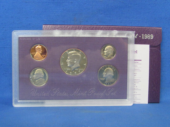 United States Proof Set – 1989 S – in Original Government Packaging