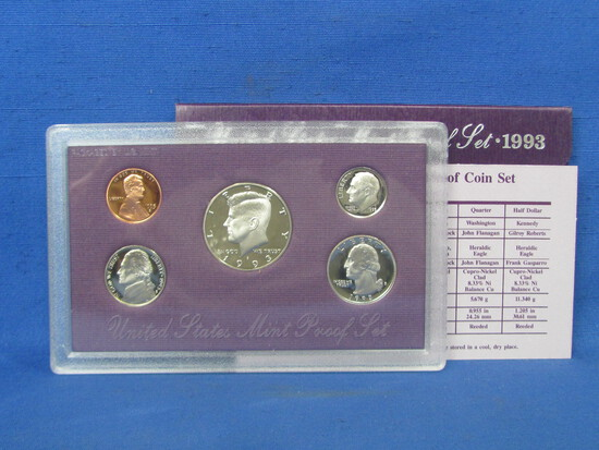 United States Proof Set – 1993 S – in Original Government Packaging