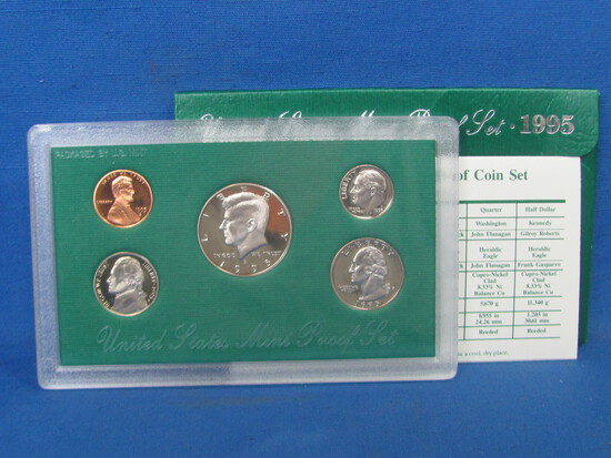 United States Proof Set – 1995 S – in Original Government Packaging