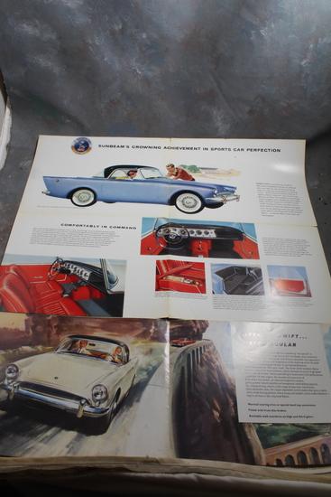 Rare Mid-Century Sunbeam Alpine Automobile Sales Brochure