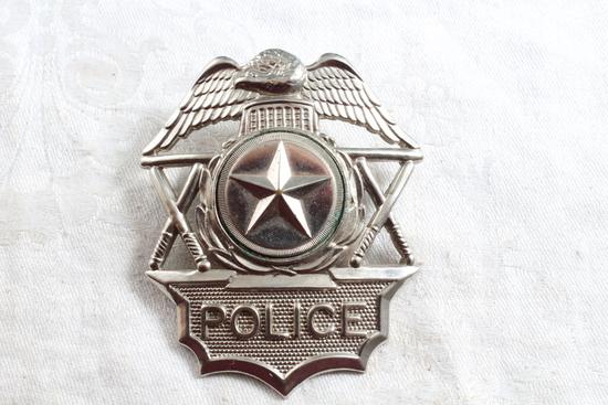 """Vintage POLICE Hat Badge 2 1/2"""" x 2 1/2"""""""