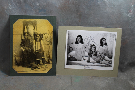 2 Photographs (1) Reproduction Cowboy & Indian and (1) Sharon Tate Valley of the Dolls Movie by