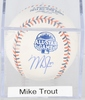 MIKE TROUT SIGNED ALL-STAR BASEBALL w/ CERT