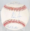 NOLAN RYAN, SANDY KOUFAX & BOB FELLER SIGNED BALL