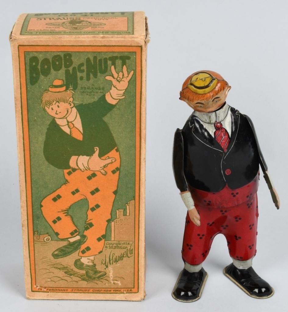 Strauss Tin Windup Boob Mcnutt Auctions Online Proxibid