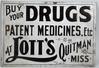 LOTT'S DRUGS EMBOSSED TIN SIGN