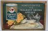 1919 CW BRAND COFFEE TIN SIGN