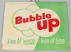 BUBBLE UP TIN OVER CARDBOARD SIGN