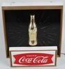 COCA COLA LIGHTUP STARBURST GOLD BOTTLE SIGN