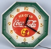 1930s COCA COLA Octagon NEON CLOCK